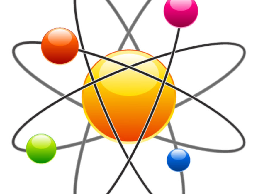 Cilpart shining design images. Atom clipart yellow