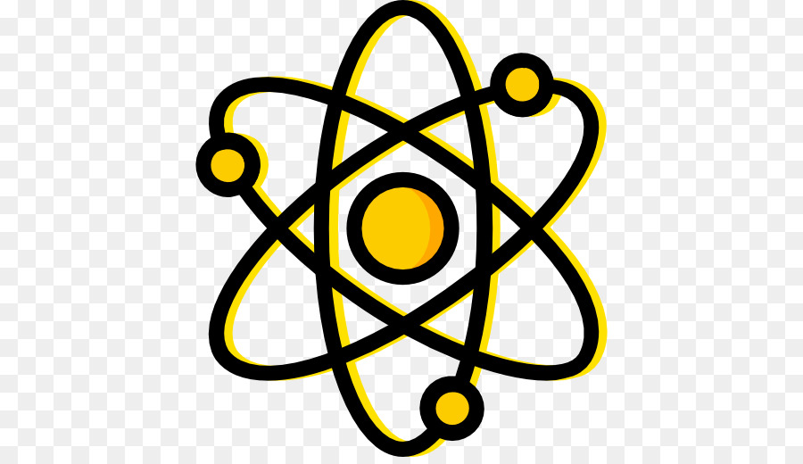 Circle pattern illustration physics. Atom clipart yellow