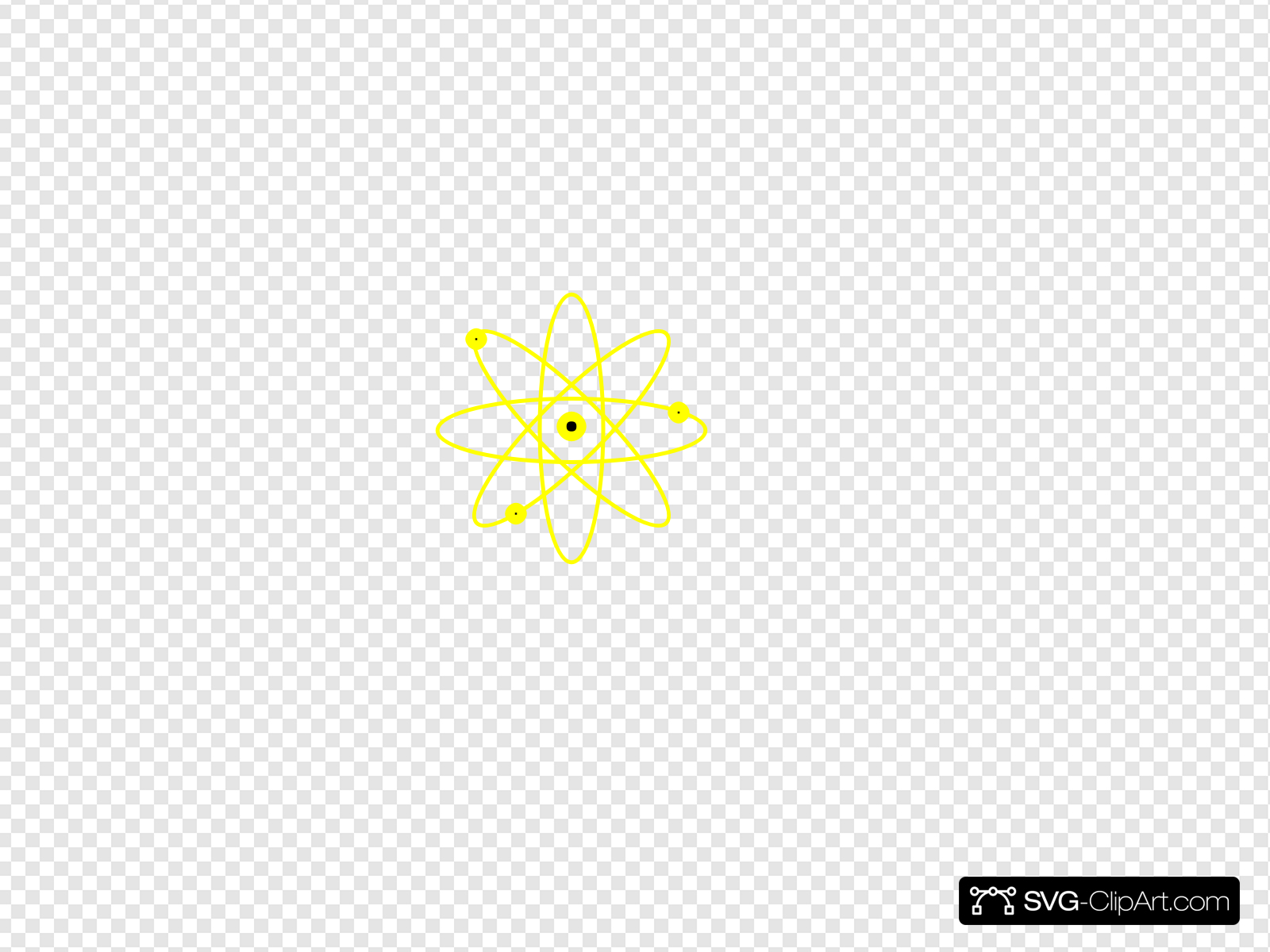 Clip art icon and. Atom clipart yellow