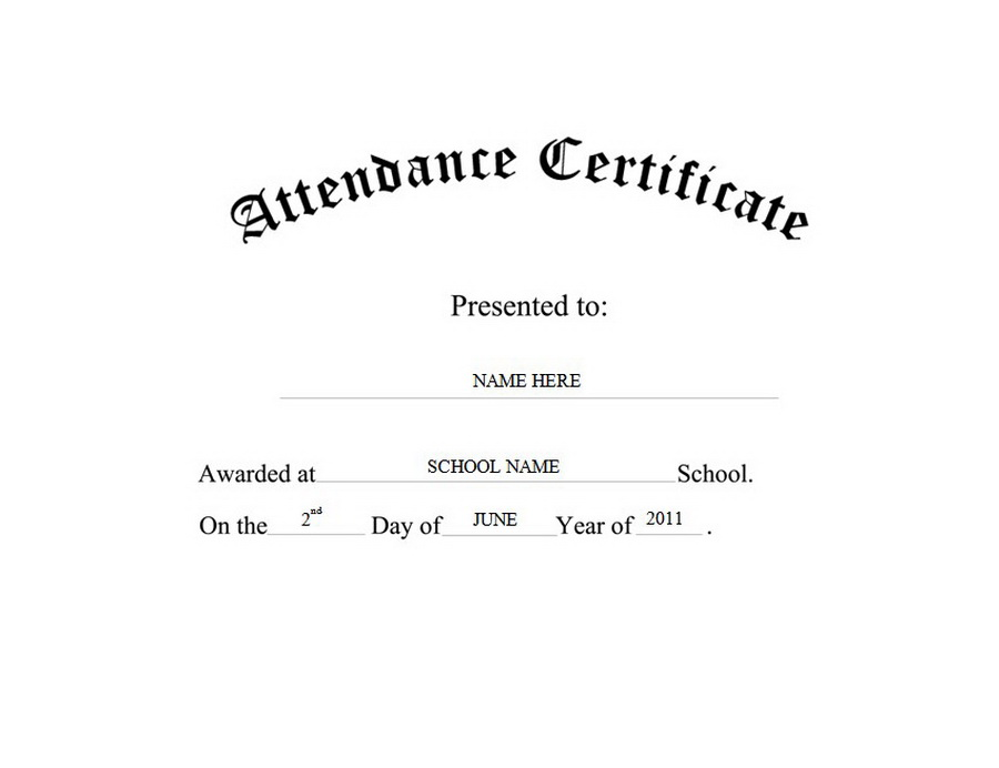 Certificate free templates clip. Attendance clipart black and white