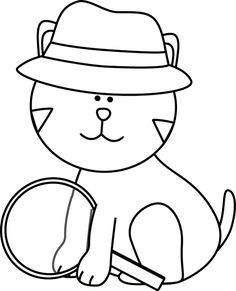 Attendance clipart black and white. Detective supplies clip art