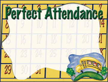 Attendance clipart border. Download for free png