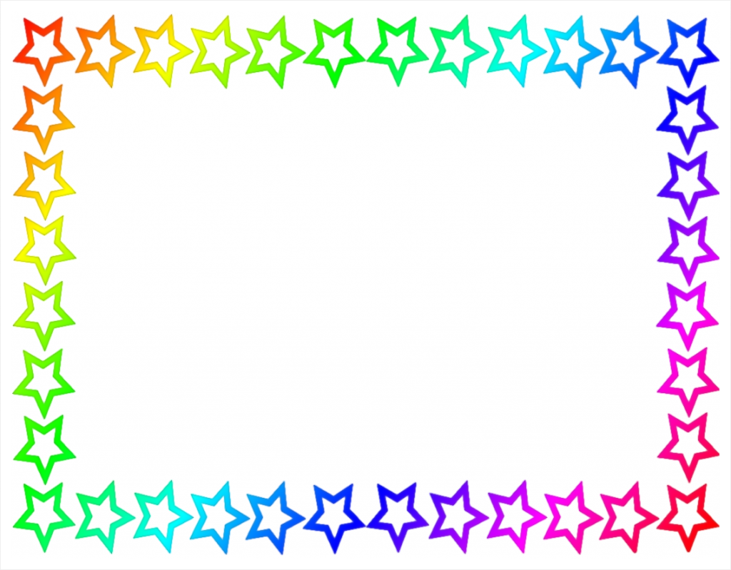 Free microsoft word page. Attendance clipart border