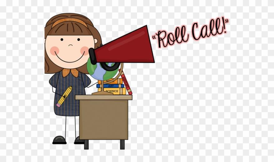 Hallway roll call teacher. Attendance clipart fact sheet