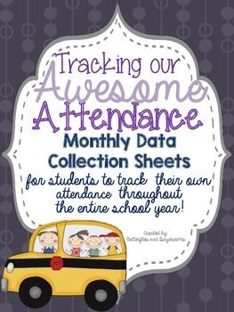 Attendance clipart fact sheet. Data collection sheets monthly