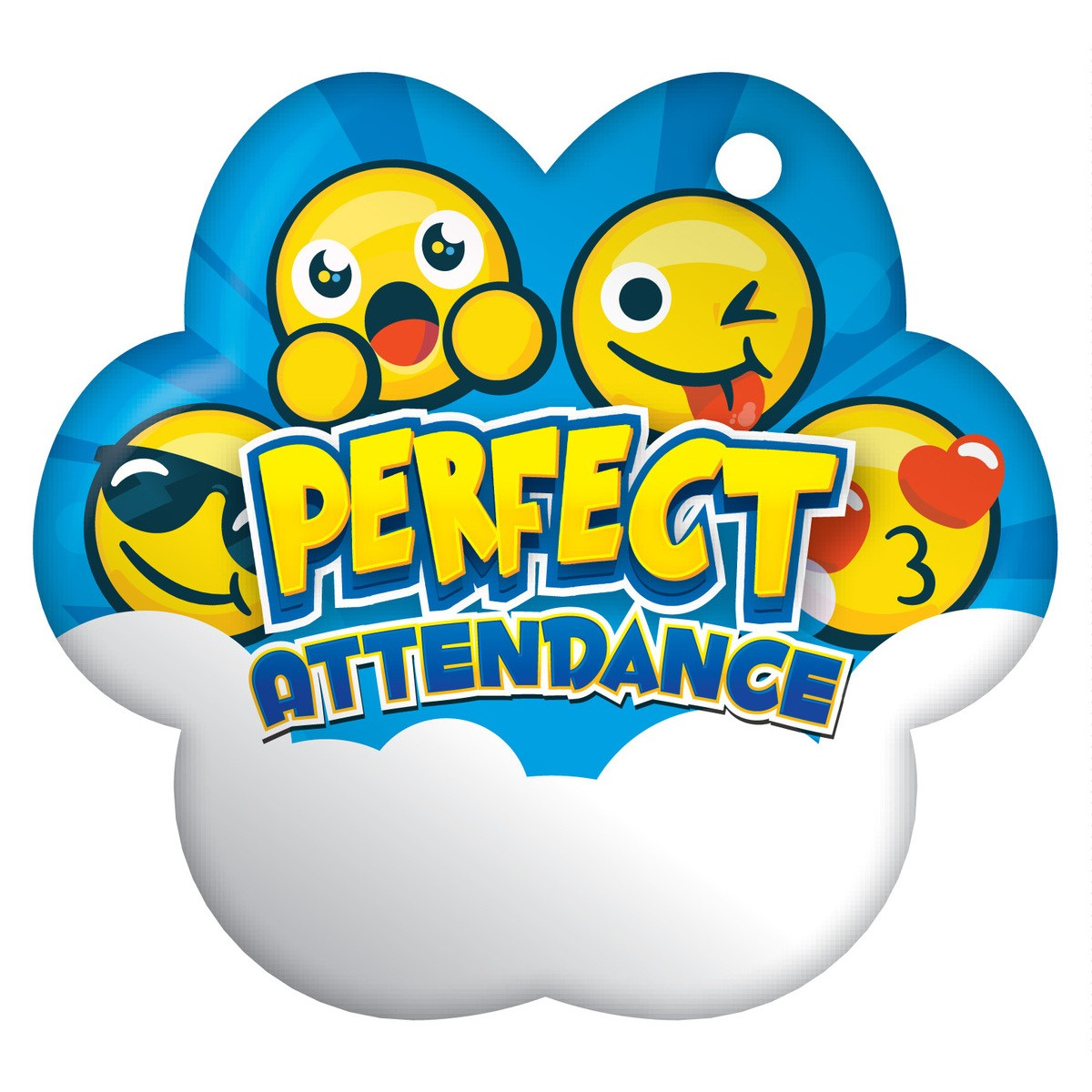 100 clipart attendance. Cloud emoji perfect bragtags