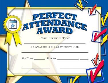 Crown certificates perfect award. Attendance clipart present attendance