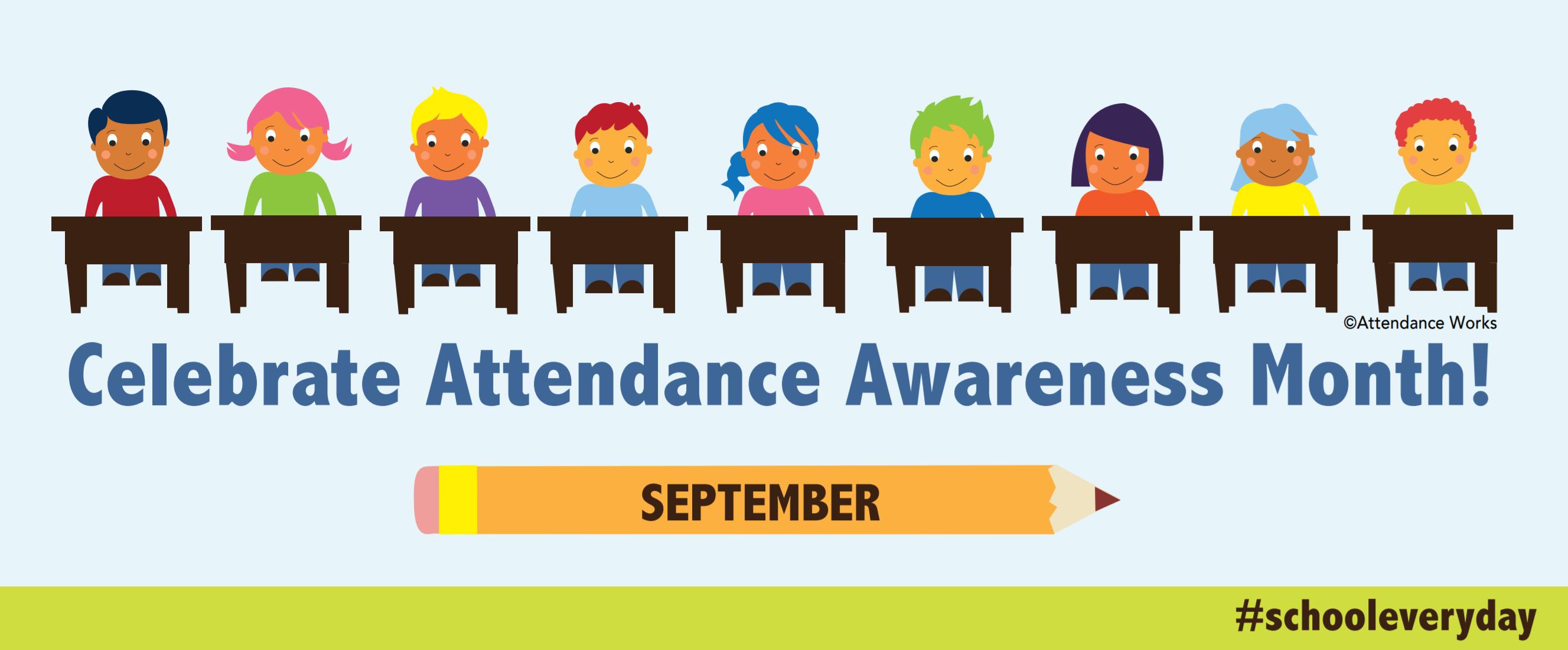 Promotional materials awareness month. Attendance clipart school register