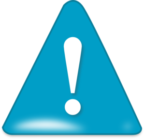 In blue clip art. Attention clipart