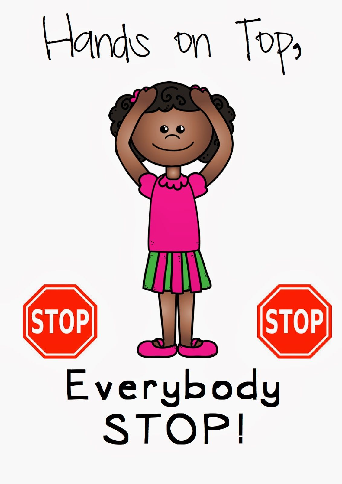 Hands on top classroom. Attention clipart attention getter