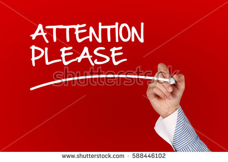 Attention clipart attention please. Advertisement pencil and in