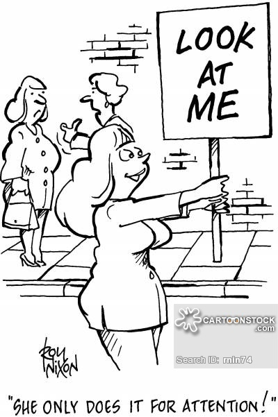 Attention clipart attention seeker. Cartoons and comics funny