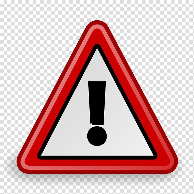 Warning attention transparent background. Caution clipart alert sign