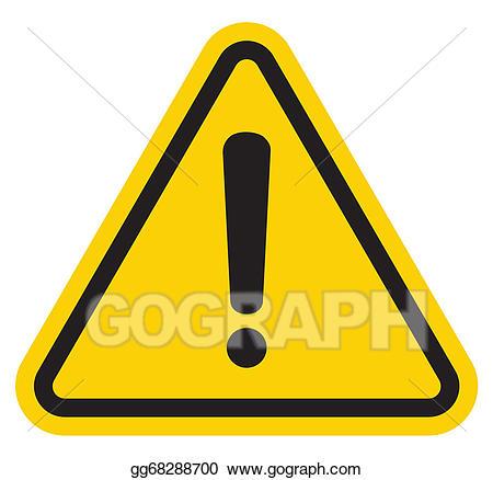 Vector art hazard warning. Attention clipart attention sign