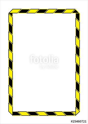 Attention clipart border. Stock image and royalty