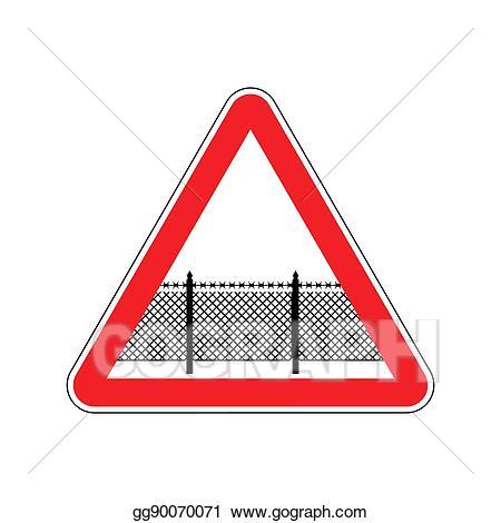 Attention clipart border. Vector illustration warning sign