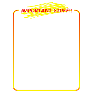 Important stuff cliparts of. Attention clipart border