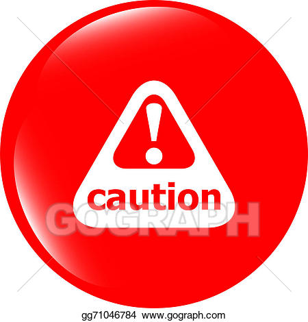 Caution clipart mark. Attention sign icon exclamation