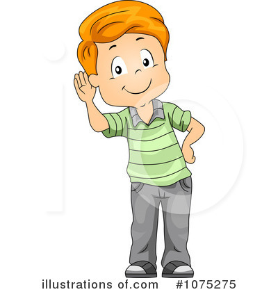 Boy . Listening clipart