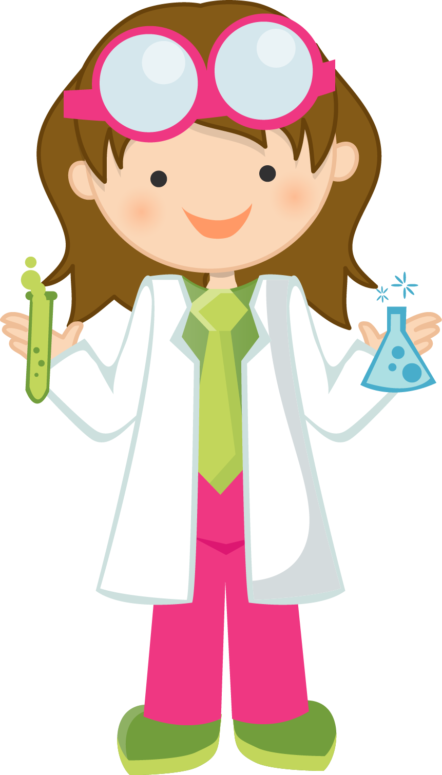 Attention clipart lady. Girl scientist free