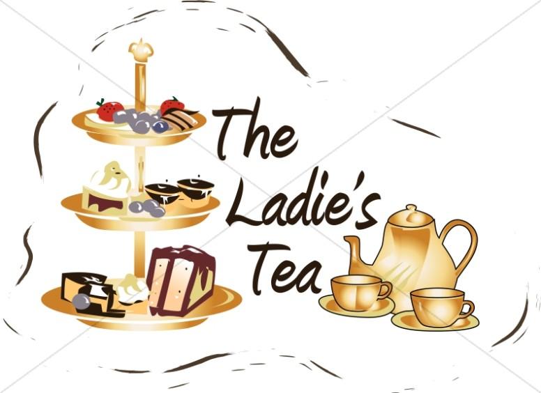 Ladies tea women s. Attention clipart lady