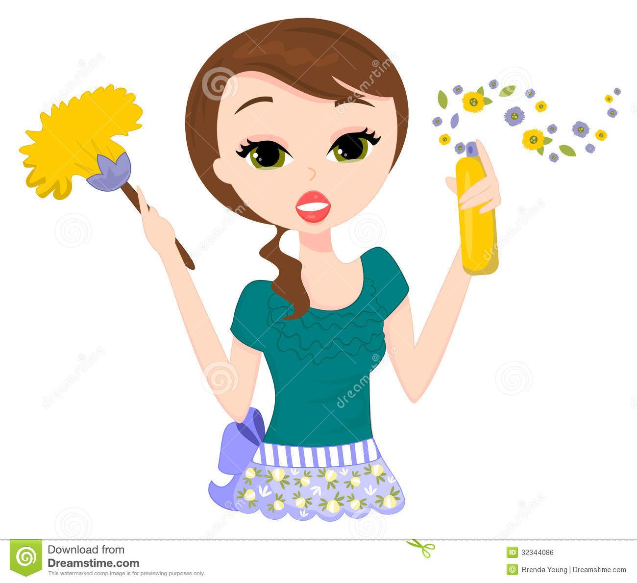 s cleaning clip. Attention clipart lady