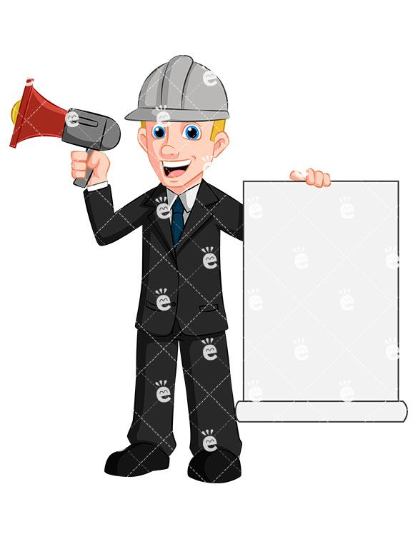 A man holding and. Attention clipart megaphone