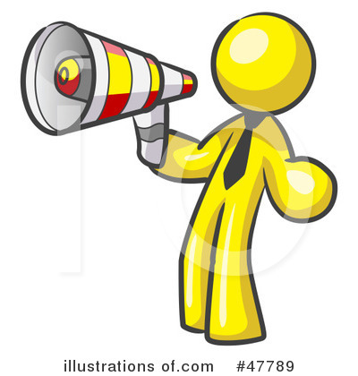 Attention clipart megaphone. Illustration by leo blanchette