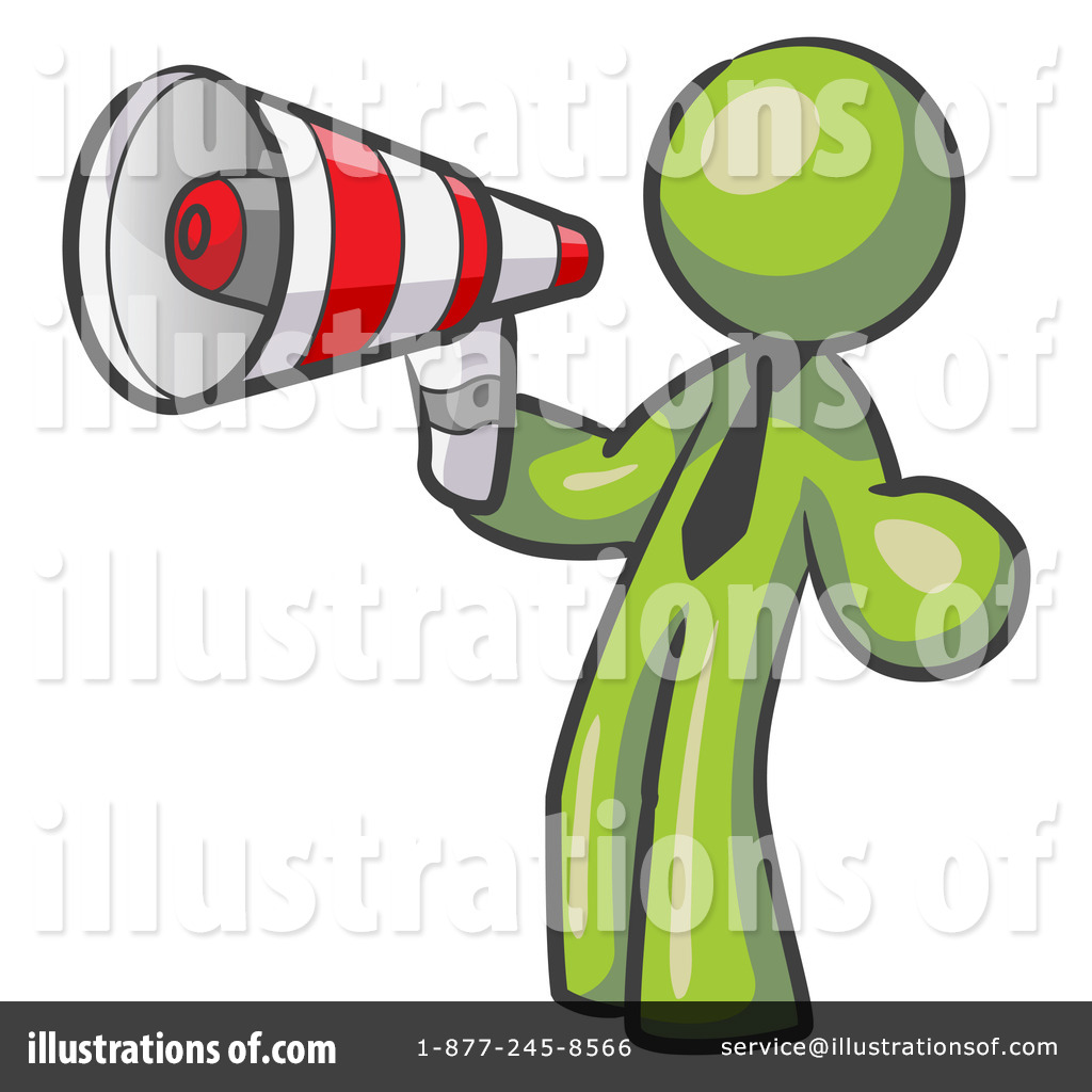 Illustration by leo blanchette. Attention clipart megaphone