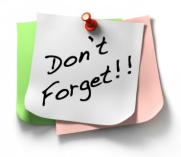 Reminder sticky dont forget. Thoughts clipart forgot