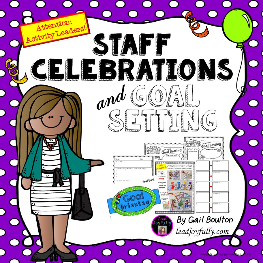 Celebrations goal setting for. Attention clipart staff