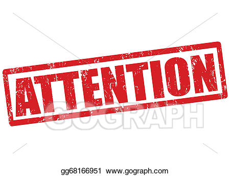 Stamp clipart attention. Vector illustration eps