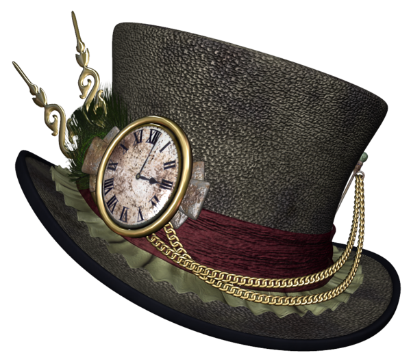 Steampunk clipart mad hatter hat. Png picture halloween and