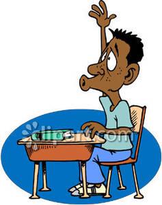 Attention clipart teacher. African american school boy