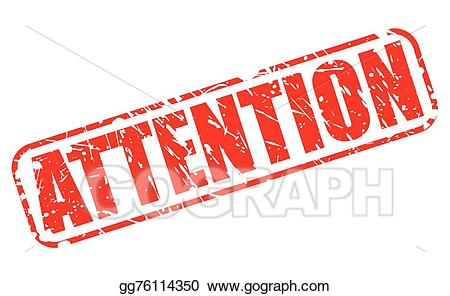 Vector red text . Stamp clipart attention