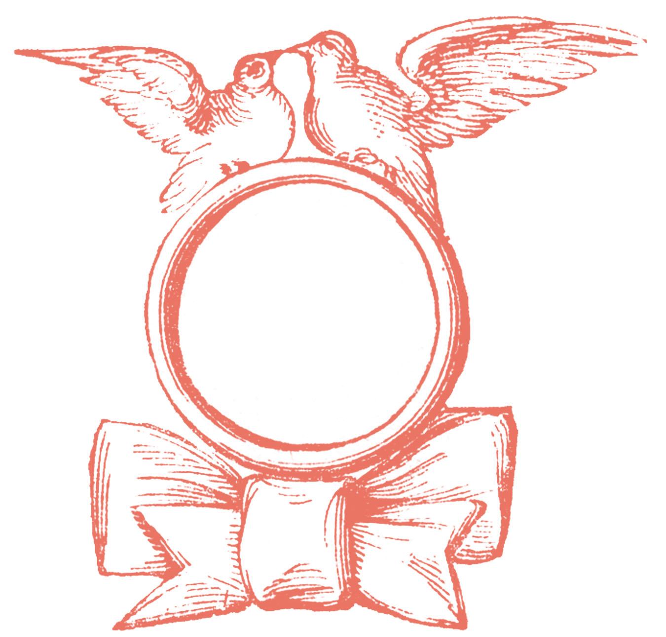 Attention clipart vintage. Wedding clip art ring