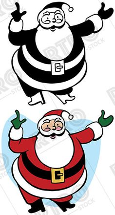 Santa claus uses a. Attention clipart vintage