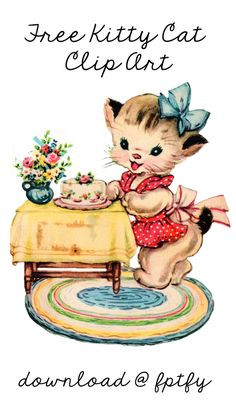 Attention clipart vintage. Free victorian cat graphics