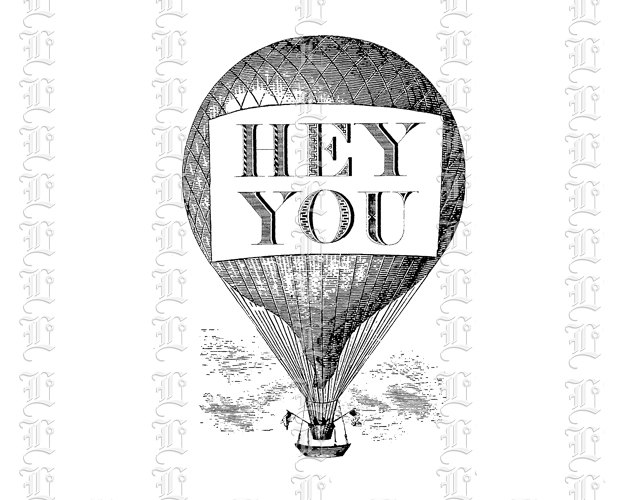 Victorian getter banner ad. Attention clipart vintage