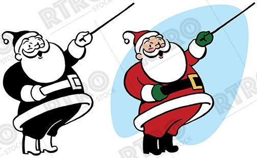 Attention clipart vintage. Santa claus uses a