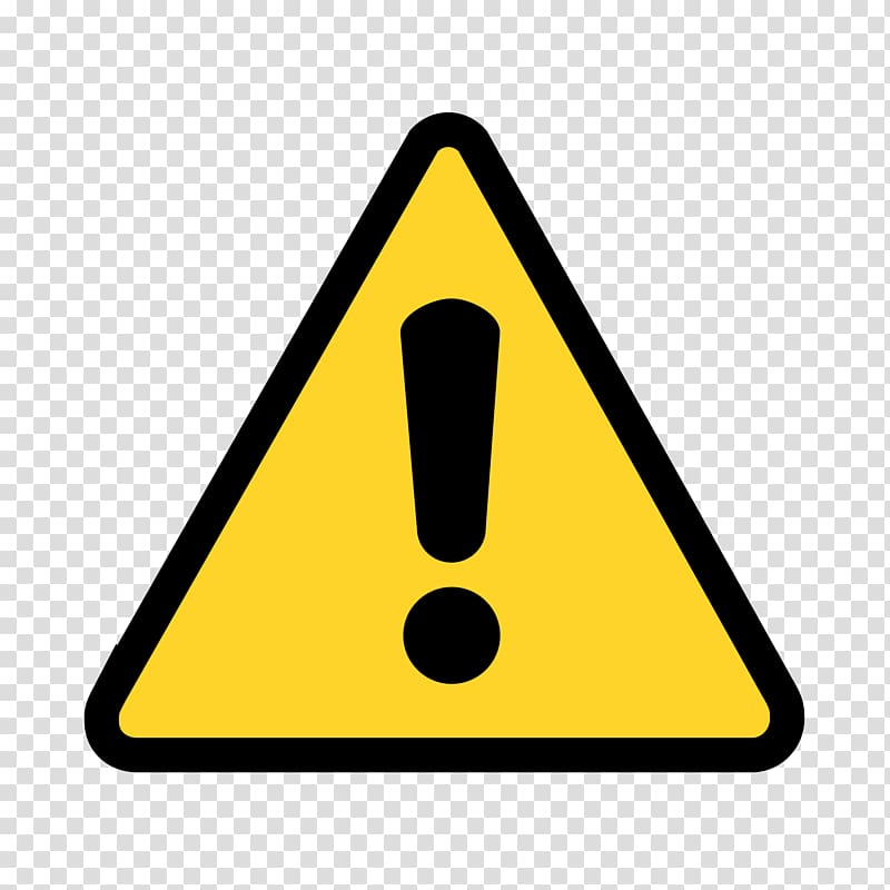 Attention clipart warning triangle. Yellow sign icon transparent