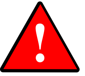 Attention clipart warning triangle. Caution pencil and in