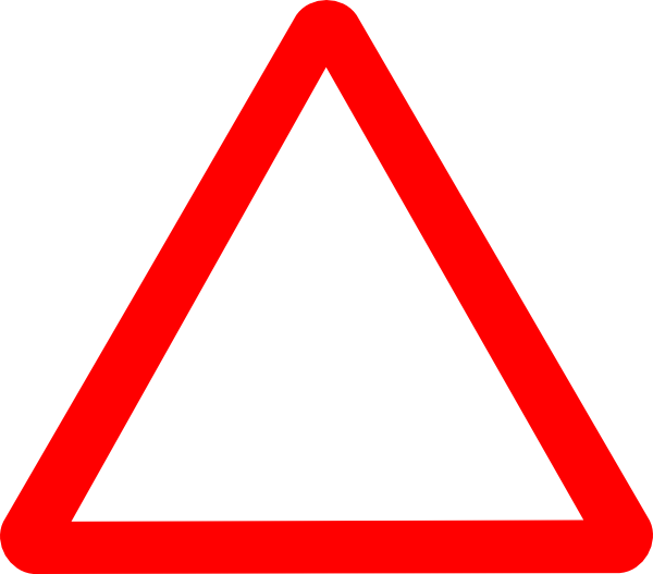 Red warning triangle clip. Triangular clipart safety
