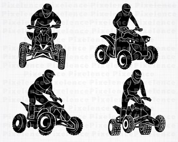 Atv clipart 2 wheeler. Svg files motocross cut