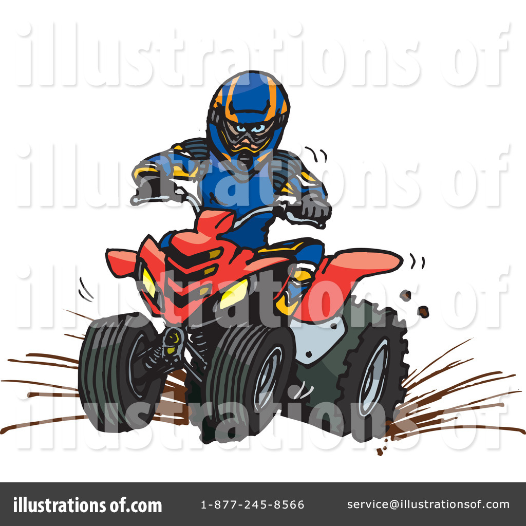 Atv clipart. Illustration by dennis holmes