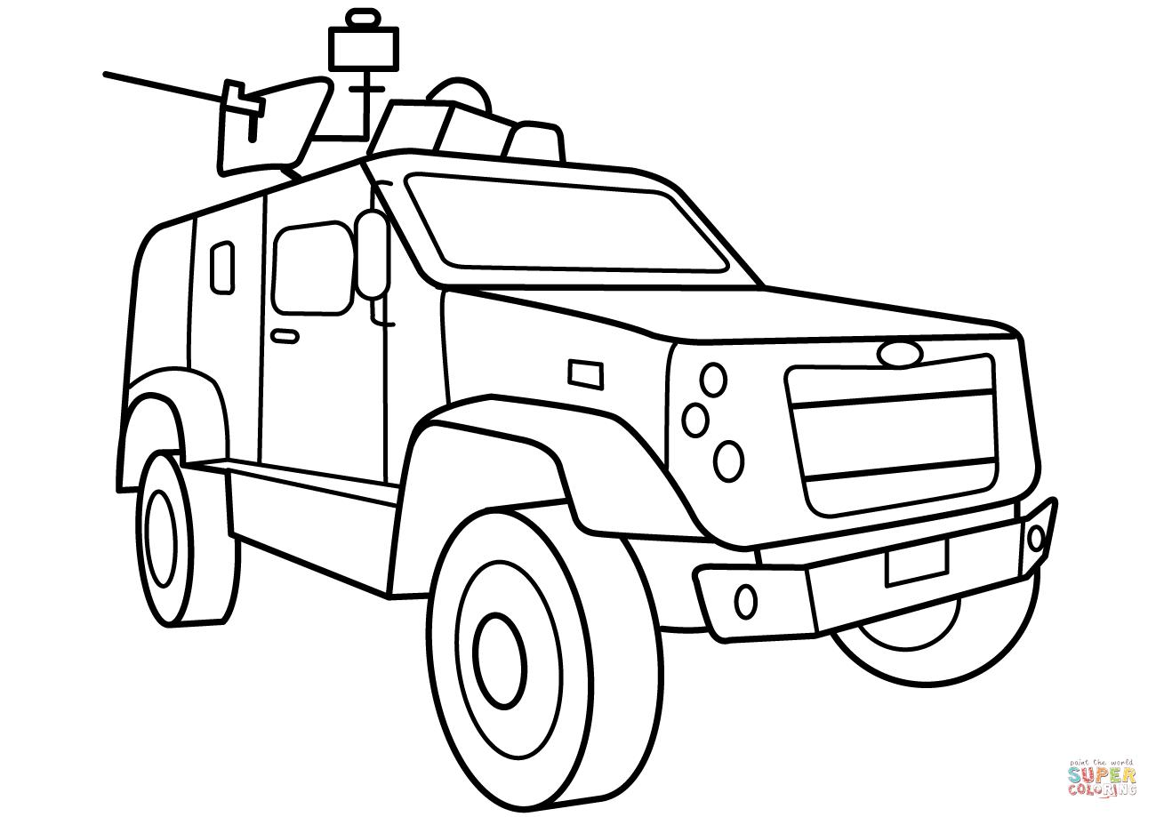 Atv clipart coloring page. Oshkosh m vehicle free
