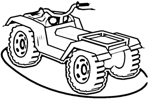 Atv clipart coloring page. Free printable pages