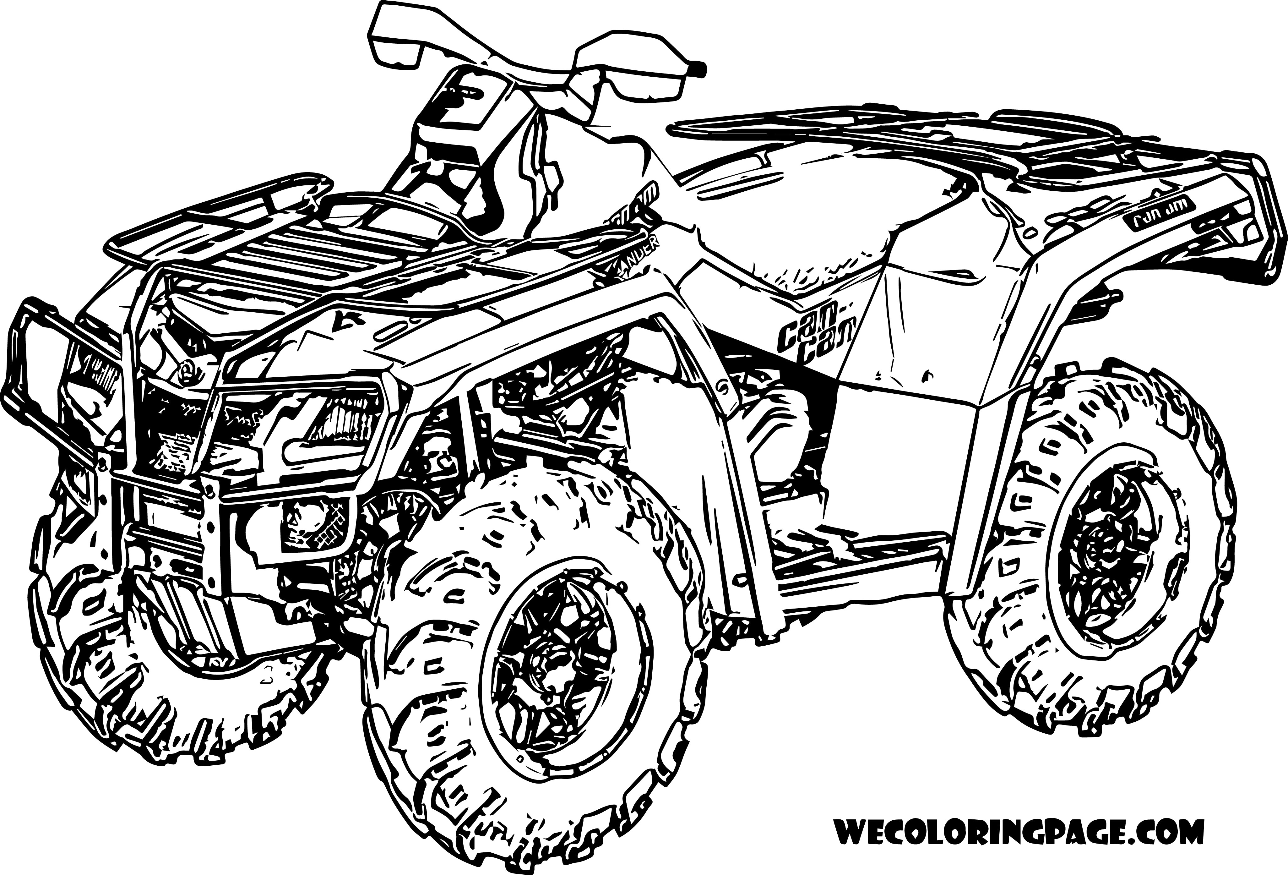Atv clipart coloring page. Rescuedesk me four wheeler