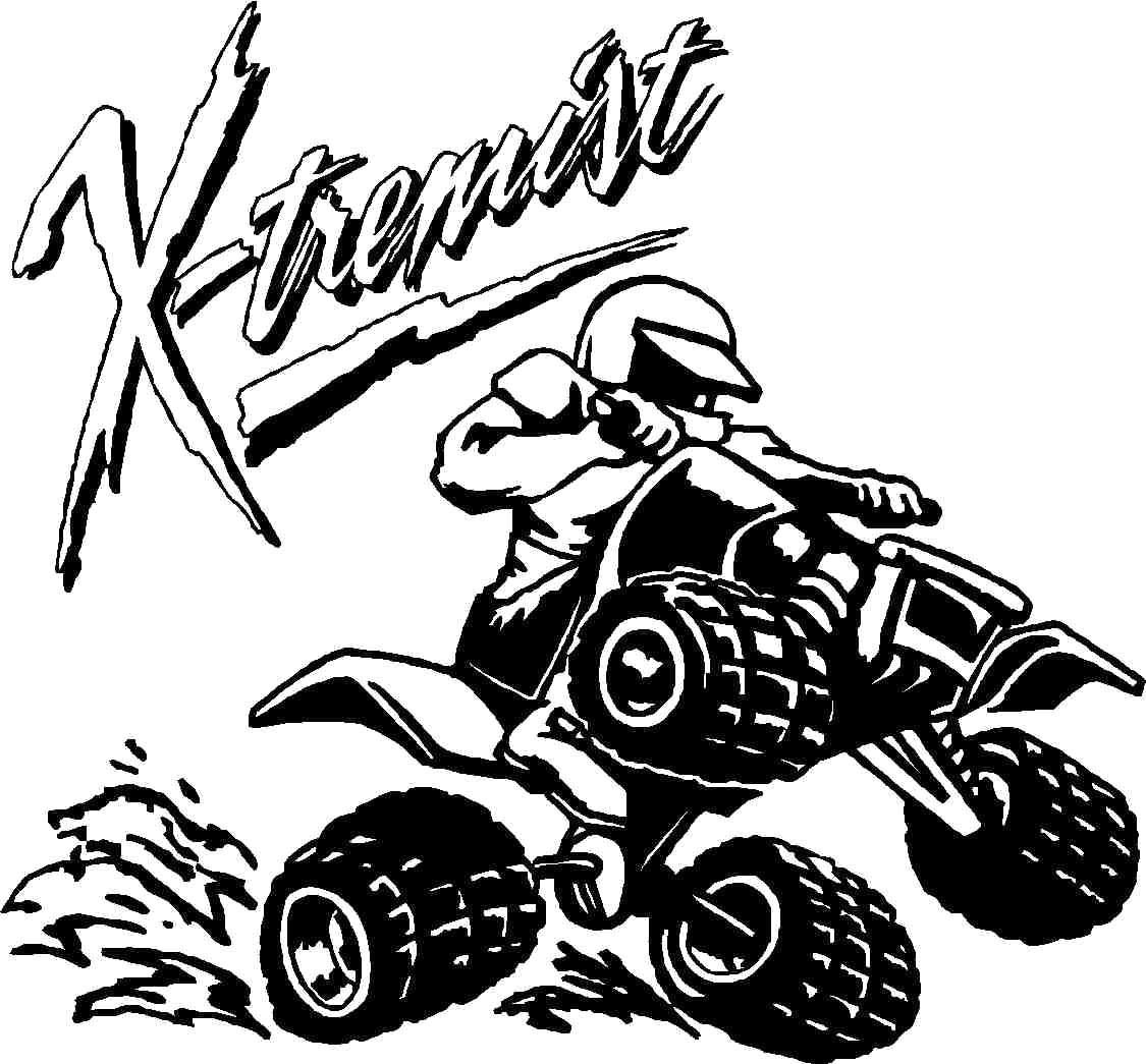 Atv clipart muddy.  wheeler drawing at