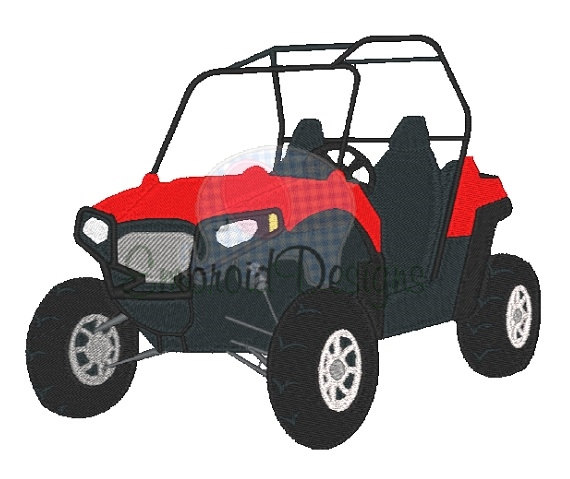atv clipart side by side